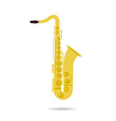 Isolated flat icon of saxophone vector