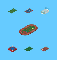 Isometric lifestyle set of b-ball american vector