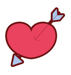 line color arrow design inside heart love icon vector image vector image