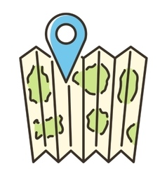 Location map icon flat style vector image