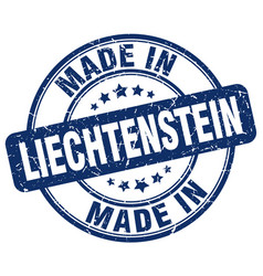 made in liechtenstein blue grunge round stamp vector image