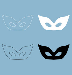 Mask the black and white color icon vector