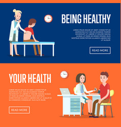 medical examination and healthcare posters vector image vector image