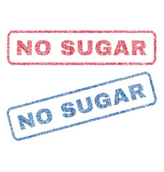 No sugar textile stamps vector