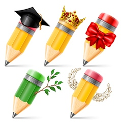 Pencil set vector image vector image