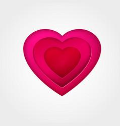 Pink paper heart vector