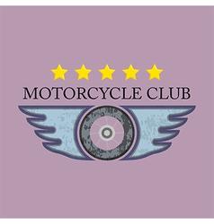 Retro motorcycle club logo vector