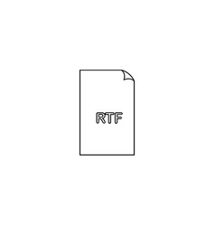 rtf format document line icon outline sign linear vector image