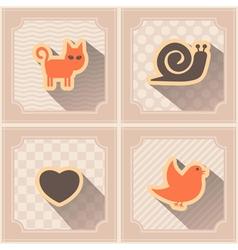 Seamless background with pets vector image