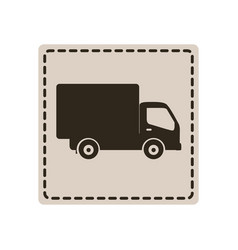 symbol delivery car icon vector image