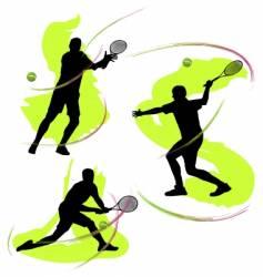 tennis graphics vector image vector image