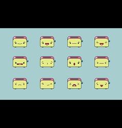 Toaster emoji vector