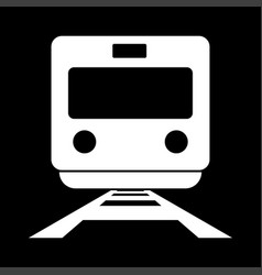 train white color icon vector image