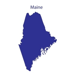 United States Maine vector image vector image