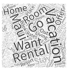 Vacation rentals in maui word cloud concept vector