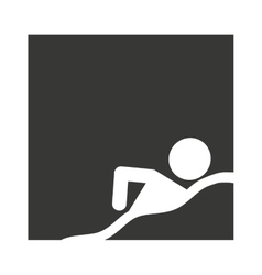 Swimming person athlete isolated vector