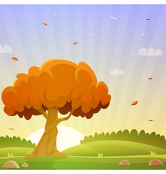 Autumn countryside landscape vector