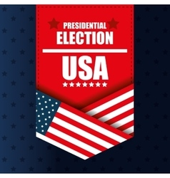 Presidentail election usa banner graphic vector