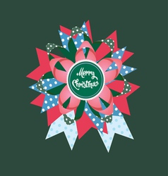 merry christmas paper design vector image