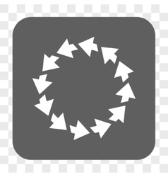 Rotate ccw rounded square button vector