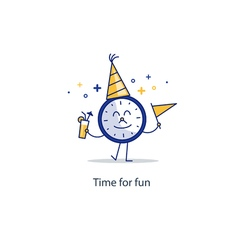 Happy hour event celebration new year countdown vector