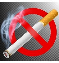 No smoking area label EPS 10 vector image