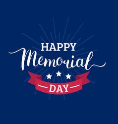Happy memorial day cardnational american vector