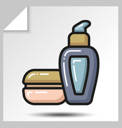 Icons of beauty cosmetics 18 vector