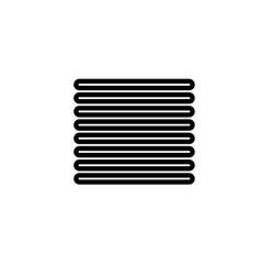 Justify align icon vector