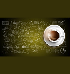 Infograph background template with a fresh coffee vector