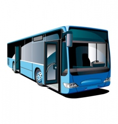 modern bus vector image