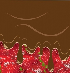 Strawberry and chocolate vector