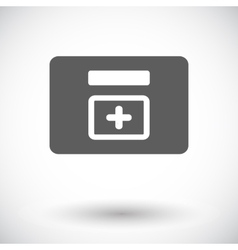 First aid kits icon vector