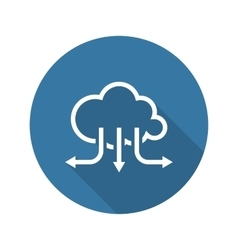 Accelerate your cloud icon business concept flat vector