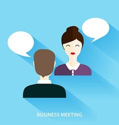 Businessmen and businesswoman having informal vector