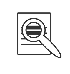 Icon magnifier vector