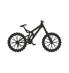 Classic sport bike silhouette pedal race vehicle vector image
