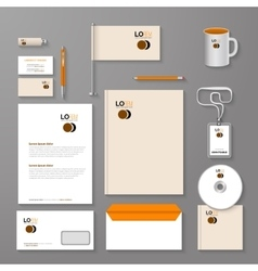 Abstract empty corporate identity template vector