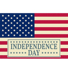 Happy independence day 4 th july greeting card vector