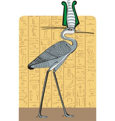 Ibis on Egypt background vector image