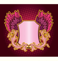 banner pink vector image vector image