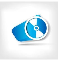 Compact disk web icon vector image vector image