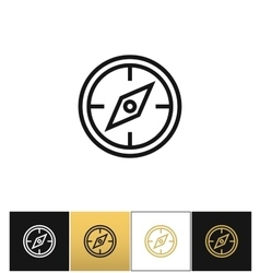 Compass symbol or discovery navigation icon vector image vector image