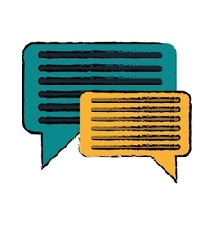 Drawing bubble speech message discussion vector