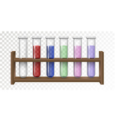 Empty and filled flask for chemical lab vector