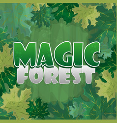 Frame for text decoration enchanted forest with vector