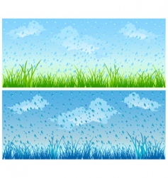 grass and rain vector image vector image