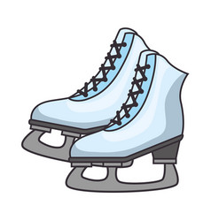 ice skates isolated icon vector image