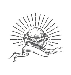 image with burger vector image vector image