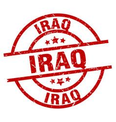 Iraq red round grunge stamp vector